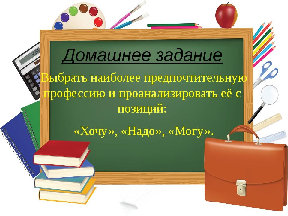 Домашнее задание Выбрать наиболее предпочтительную профессию и проанализирова...