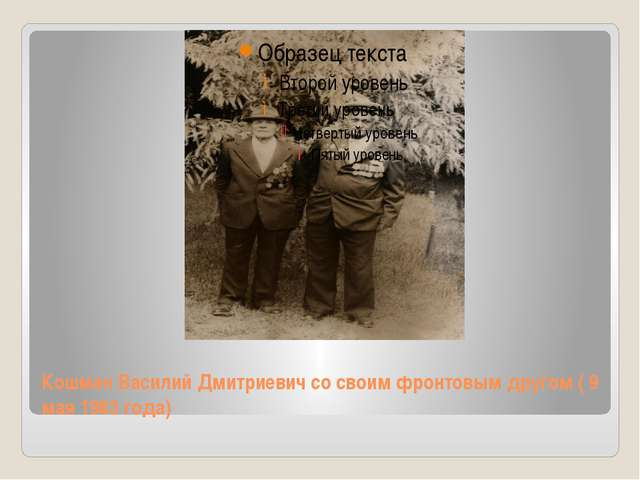 Кошман Василий Дмитриевич со своим фронтовым другом ( 9 мая 1983 года)