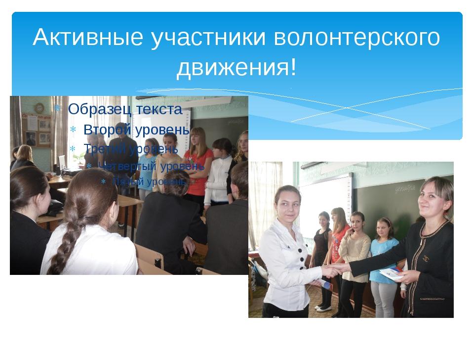 Активные участники волонтерского движения!