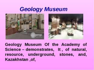 Geology Museum Geology Museum Of the Academy of Science – demonstrates, It ,