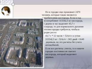 Но в городке еще проживает 2470 человек, которые также являются потребителям