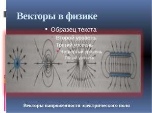 Векторы в физике Векторы напряженности электрического поля