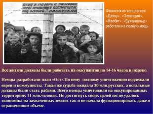 Фашистские концлагеря «Дахау», «Освенцим», «Маобит», «Бухенвальд» работали на