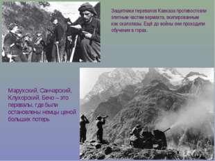 Защитники перевалов Кавказа противостояли элитным частям вермахта, экипирован