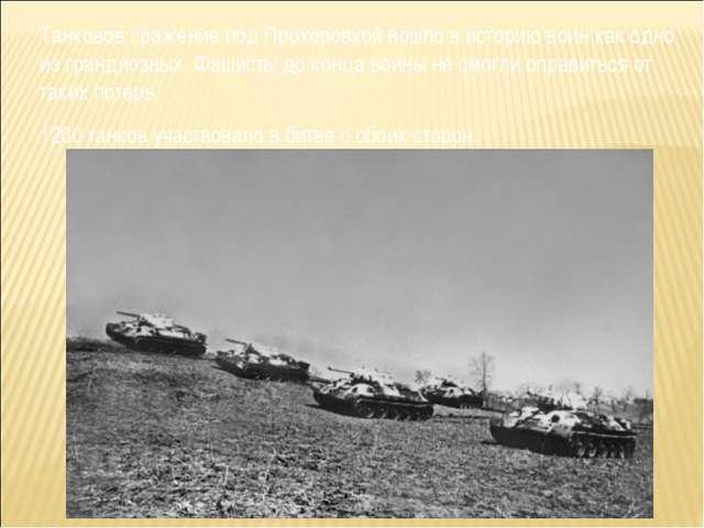 Танковое сражение под Прохоровкой вошло в историю войн как одно из грандиозны...