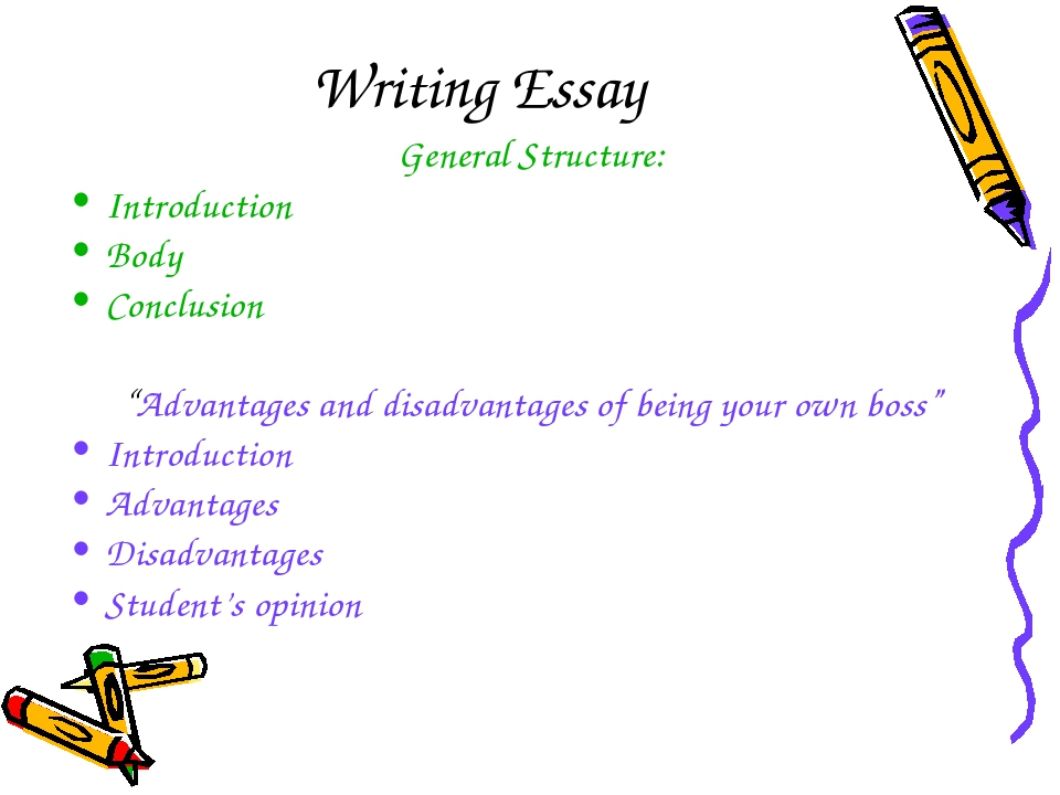 "Writing Essay General Structure: Introduction Body Conclusion ""Advantages and..."