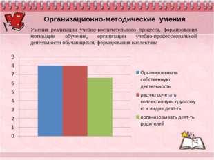 Организационно-методические умения Умения реализации учебно-воспитательного п