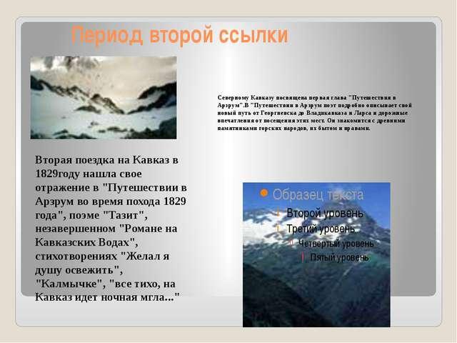 """Период второй ссылки Северному Кавказу посвящена первая глава """"Путешествия в..."""