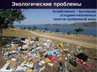 Экологические проблемы Хозяйственно – бытовыми отходами населенных пунктов пр