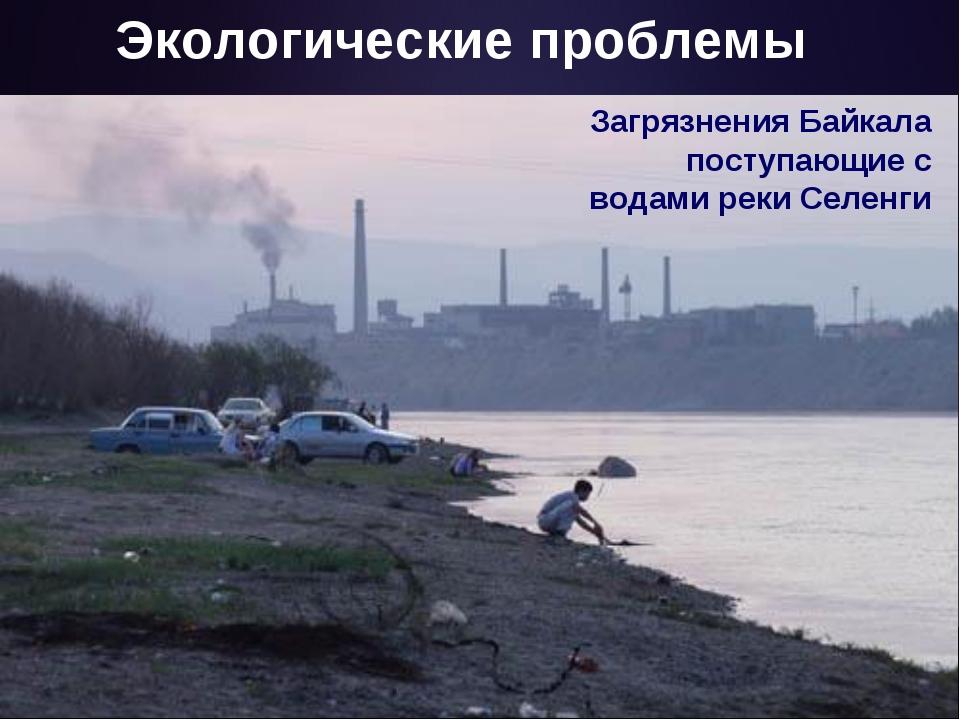 Экологические проблемы Загрязнения Байкала поступающие с водами реки Селенги