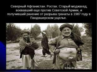 Северный Афганистан. Ростак. Старый моджахед, воевавший еще против Советской