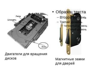 Магнитные замки для дверей Двигатели для вращения дисков