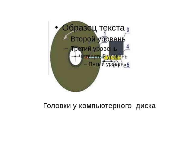 Головки у компьютерного диска
