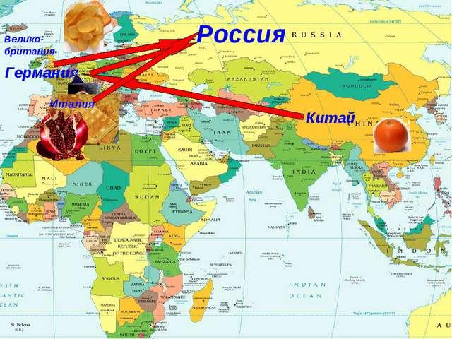 Китай Германия Россия Велико- британия Италия