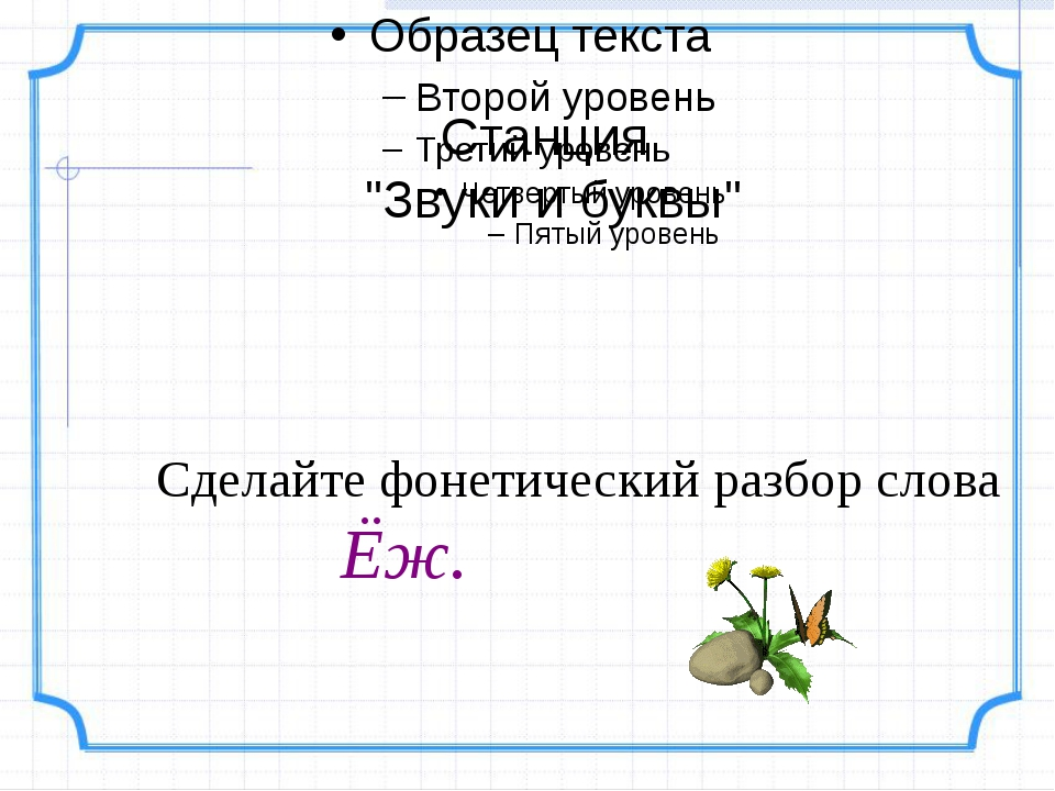 Как сделать фонетический разбор слова ёж