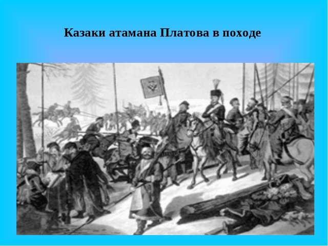 Казаки атамана Платова в походе