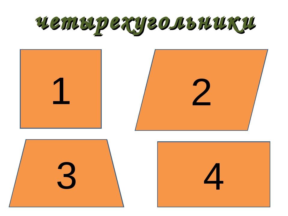 четырехугольники 1 2 3 4