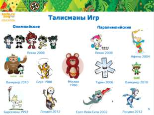 Каждые Олимпийские и Паралимпийские игры имеют свои талисманы. Медвежонок Ми