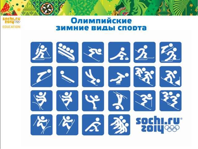 По классификации МОК состязания пройдут по 7 олимпийским видам спорта: - лыжн...