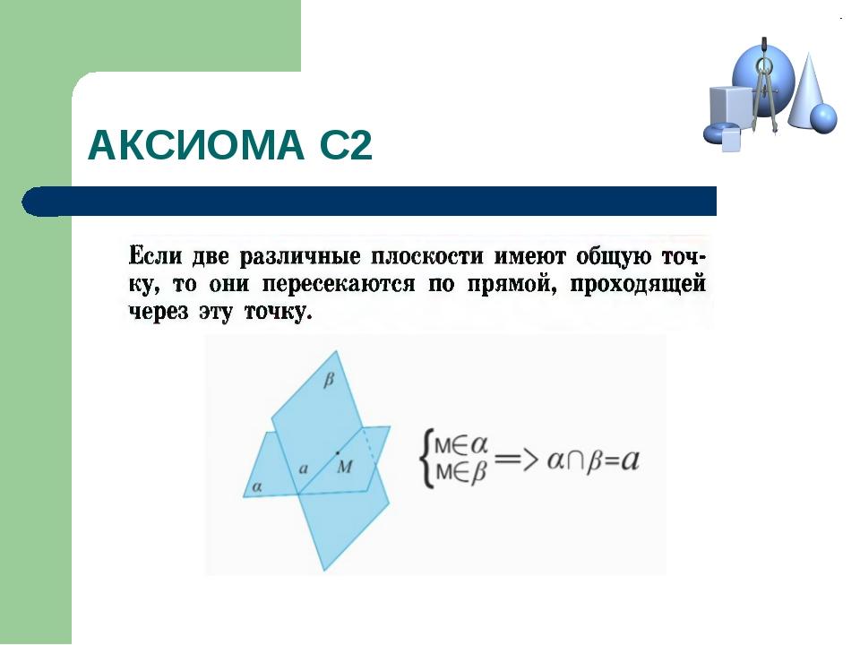АКСИОМА С2