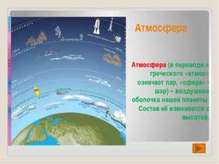 Слои атмосферы Нижний слой: толщина всего 10 – 18 км Следующий слой достигает