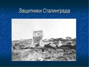 Защитники Сталинграда