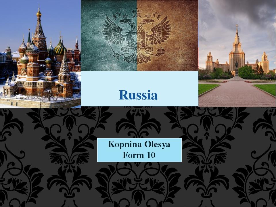 Kopnina Olesya Form 10 Russia