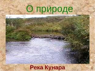 О природе Река Кунара