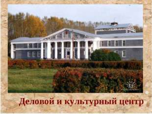 Деловой и культурный центр