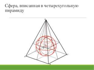 Сфера, вписанная в четырехугольную пирамиду В режиме слайдов ответы и решения