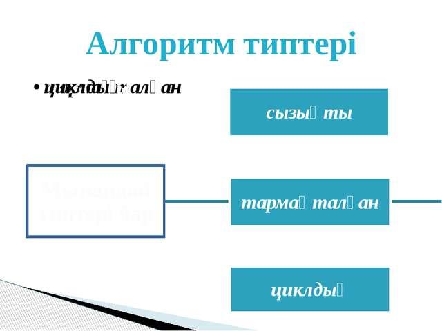Алгоритм типтері