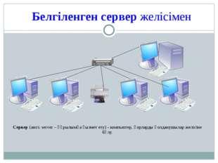 Белгіленген сервер желісімен Сервер (англ. server – құрылымға қызмет ету) - к