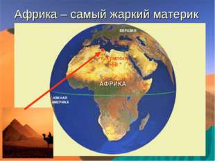 Африка – самый жаркий материк г. Триполи +58 °