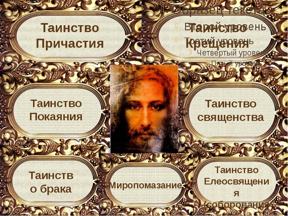Таинство Крещения Таинство священства Таинство Покаяния Таинство Елеосвящения...