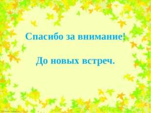 Спасибо за внимание! До новых встреч. FokinaLida.75@mail.ru