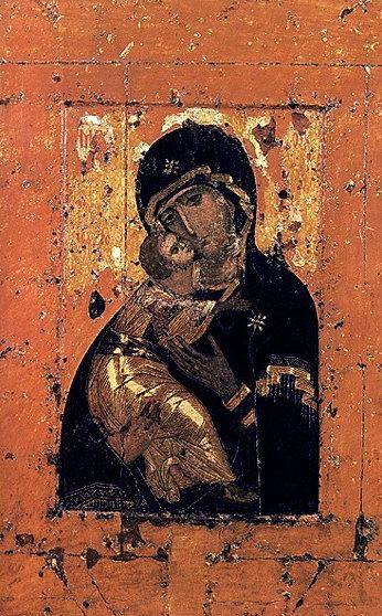 Владимирская икона Божьей матери. Находится в Третьяковской галерее