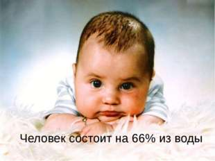 Человек состоит на 66% из воды