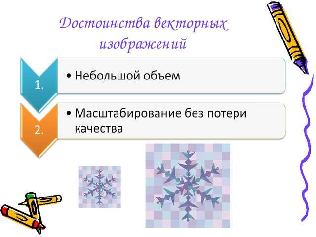 Достоинства векторных изображений