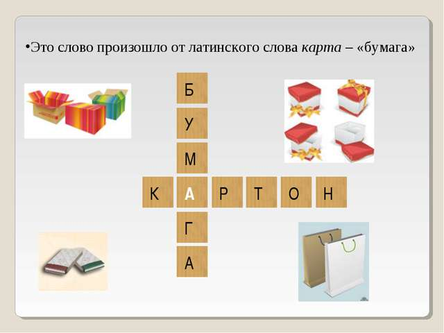 Это слово произошло от латинского слова карта – «бумага»