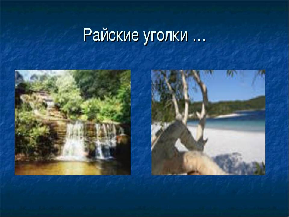 Райские уголки …