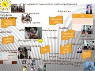 Ассоциации Какие задания использовала и стратегии предприняла Новые подходы Р