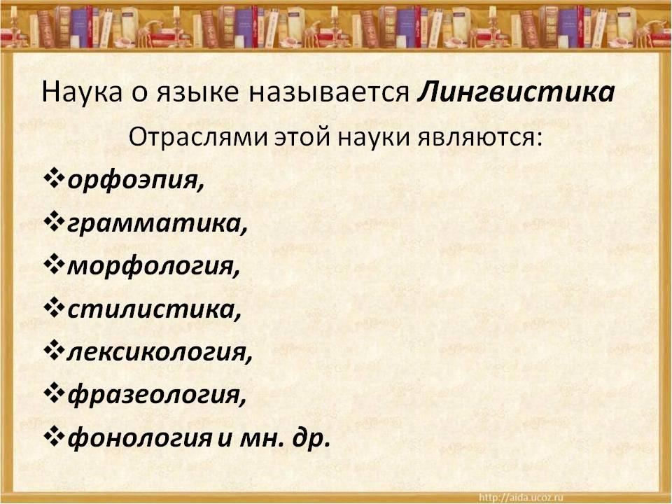 Лингвистика это
