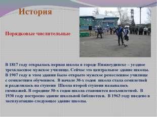 История В 1817 году открылась первая школа в городе Нижнеудинске – уездное тр