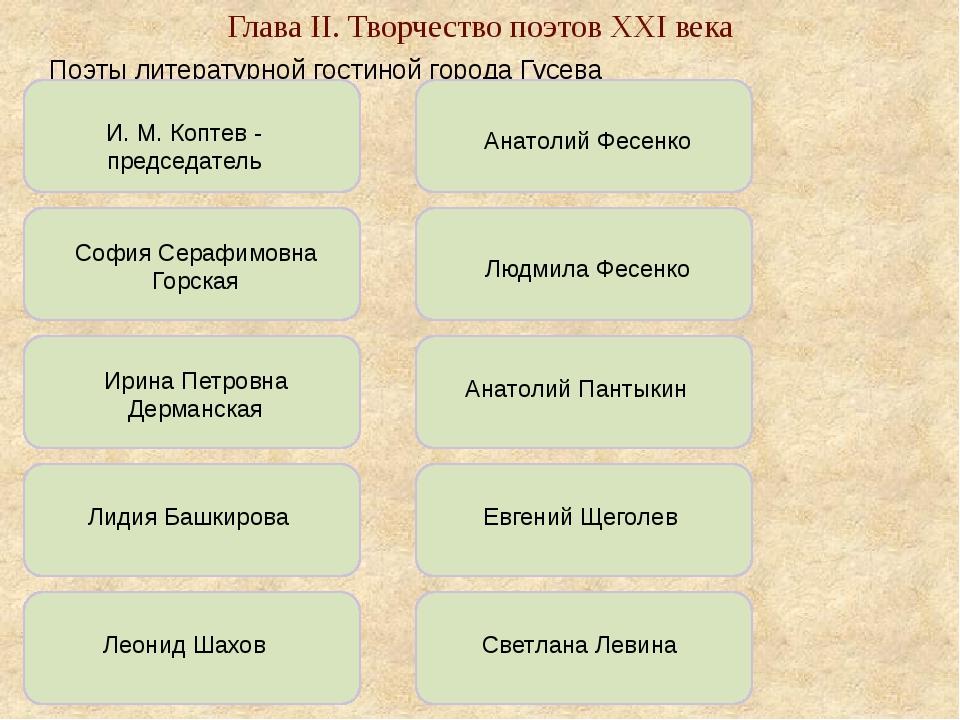 Поэты литературной гостиной города Гусева И. М. Коптев - председатель София...