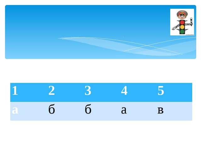 1 2 3 4 5 а б б а в