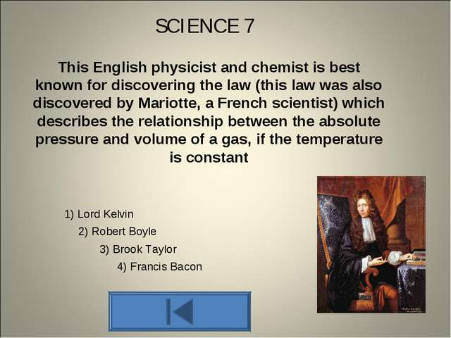 This English physicist and chemist is best known for discovering the law (thi...