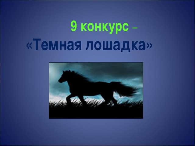 9 конкурс – «Темная лошадка»
