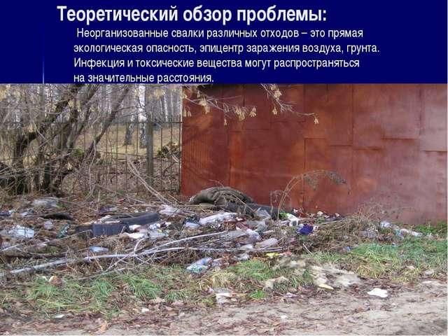 Теоретический обзор проблемы: Неорганизованные свалки различных отходов – это...