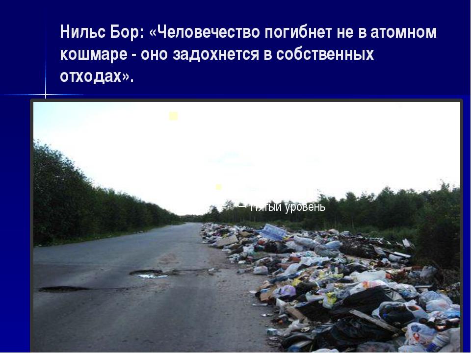Нильс Бор: «Человечество погибнет не в атомном кошмаре - оно задохнется в соб...