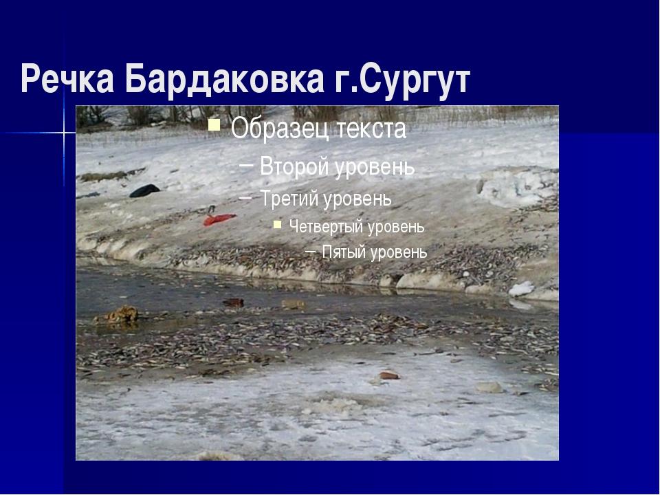 Речка Бардаковка г.Сургут